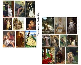 L'Amour Digital Collage Set