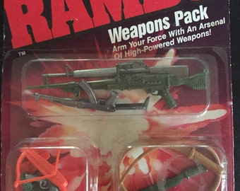 RAMBO weapons pack by coleco 1986 rare find unopened