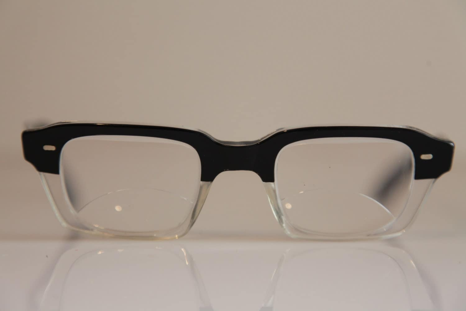 Eyeglasses Frame Made In Germany : Vintage WINTER Eyewear, Crystal and Black Frame, RX-Able ...