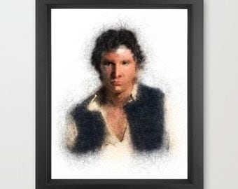 Han Solo - INSTANT DOWNLOAD - Star Wars, Galaxy Far Away, Geeky, Children's, Comics, Movies, Decor, Present, Digital, Art