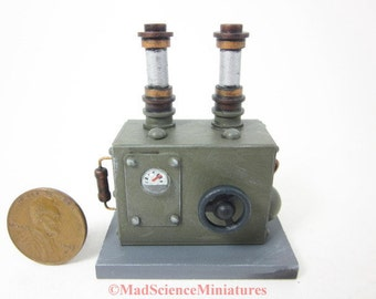 Mad Science Laboratory Equipment Dollhouse Miniature D230 1:12 Scale Model Spooky Weird Sci Fi Halloween Victorian Mad Scientist Lab OOAK