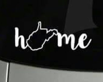 West Virginia Car Decal WV Home