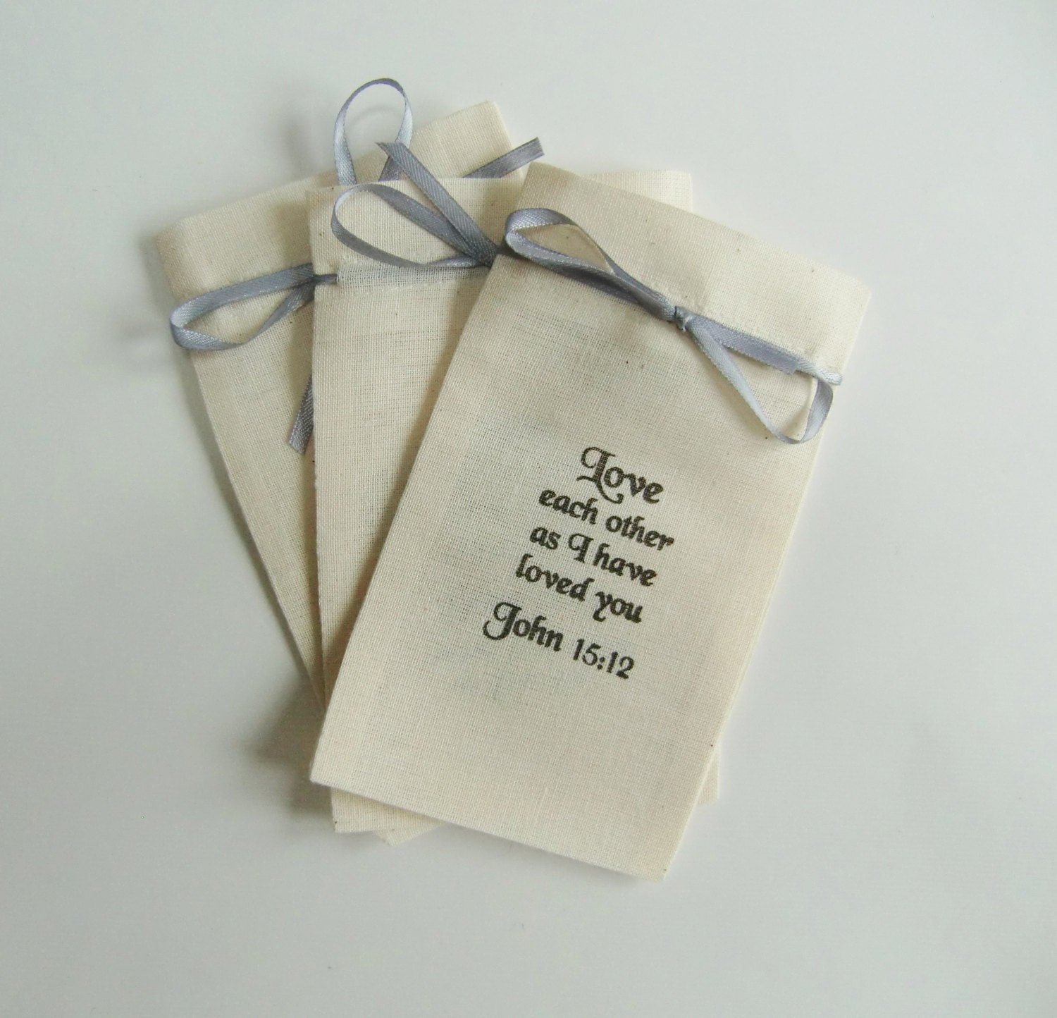 Wedding Favor Bags With Ribbon : Wedding Favor Bags with Ribbon-LOVE EACH OTHER-Wedding Favour