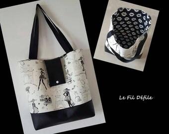 """My little Paris black dress"" handbag"