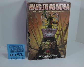 1970's Ideal Manglor Mountain Volcanic Fortress Playset-Sealed