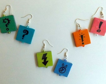 Handmade Symbol Earrings