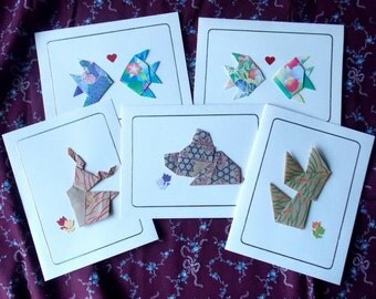 Origami Animal Cards - Set of 5