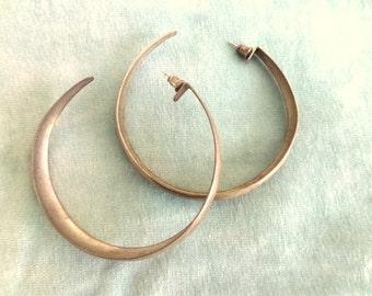 shabby old hoops- gypsy earrings