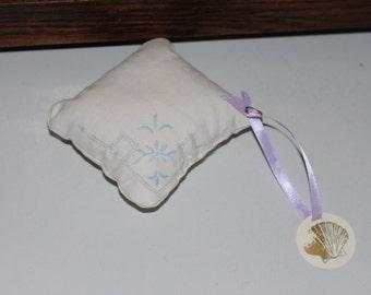 Handmade Sachet Vintage Embroidered Linens