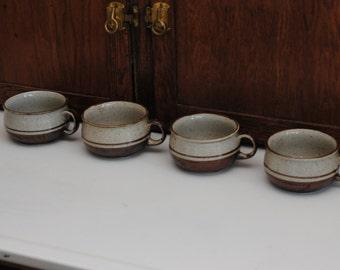 Set of 4 Vintage Otagiri Stoneware Soup Bowls / Mugs