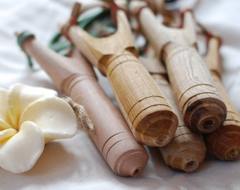 Set of 5 Wooden Slingshots Classic Style handmade slingshots