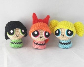 Tiny Powerpuff Girls Amigurumi Set Crochet Dolls