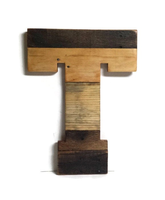 Letter T Wooden Letters Reclaimed Wood Letters Home Decor