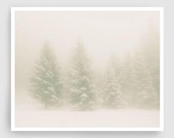 Silence - Fine Art Photography Print,Giclee Art Print,Home decor,Winter decor,Art print,Art Poster,Gift idea,Wall decor,White,Large Wall Art