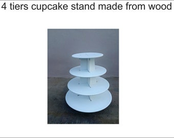 4 tier cupcake stand round