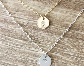 The Dylan ~ Mini Initial Necklace