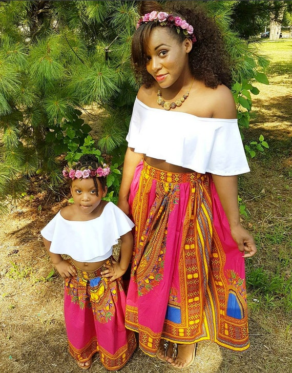 African Print Women Maxi Skirt Ankara Skirt