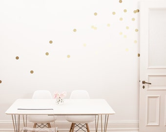 Wall stickers / dots / gold