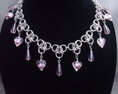 Chainmaille Trinity Beaded Necklace