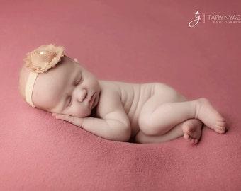 Brown Newborn Headband, Baby Headbands, Shabby Chic Headbands, Headbands Brown, Brown Headbands, Newborn Headbands, Baby Girl Headbands