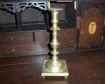 Vintage Solid Brass Very Heavy Candle Holder