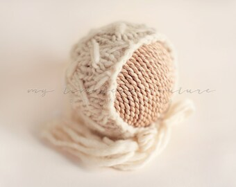 Newborn {Wild Oats} Knit Bonnet, Newborn Photography Prop, Several Color Options