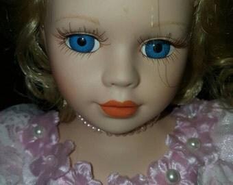 Blonde Ballerina Porcelain Doll