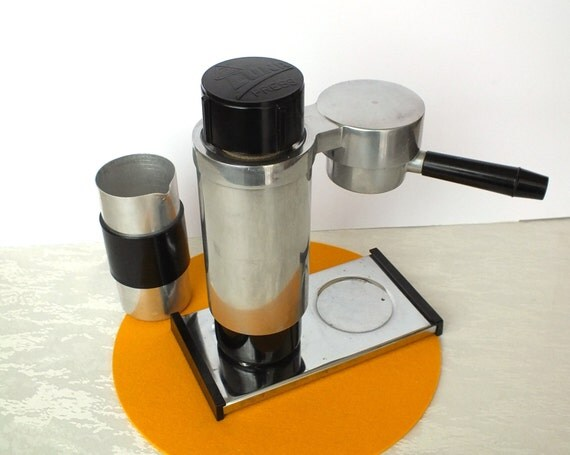 One Cup Electric Coffee Maker : Espresso machine 70s. Single cup coffee maker. Rarest vintage
