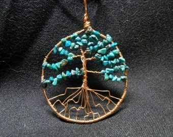 Turquoise Tree of Life in Copper