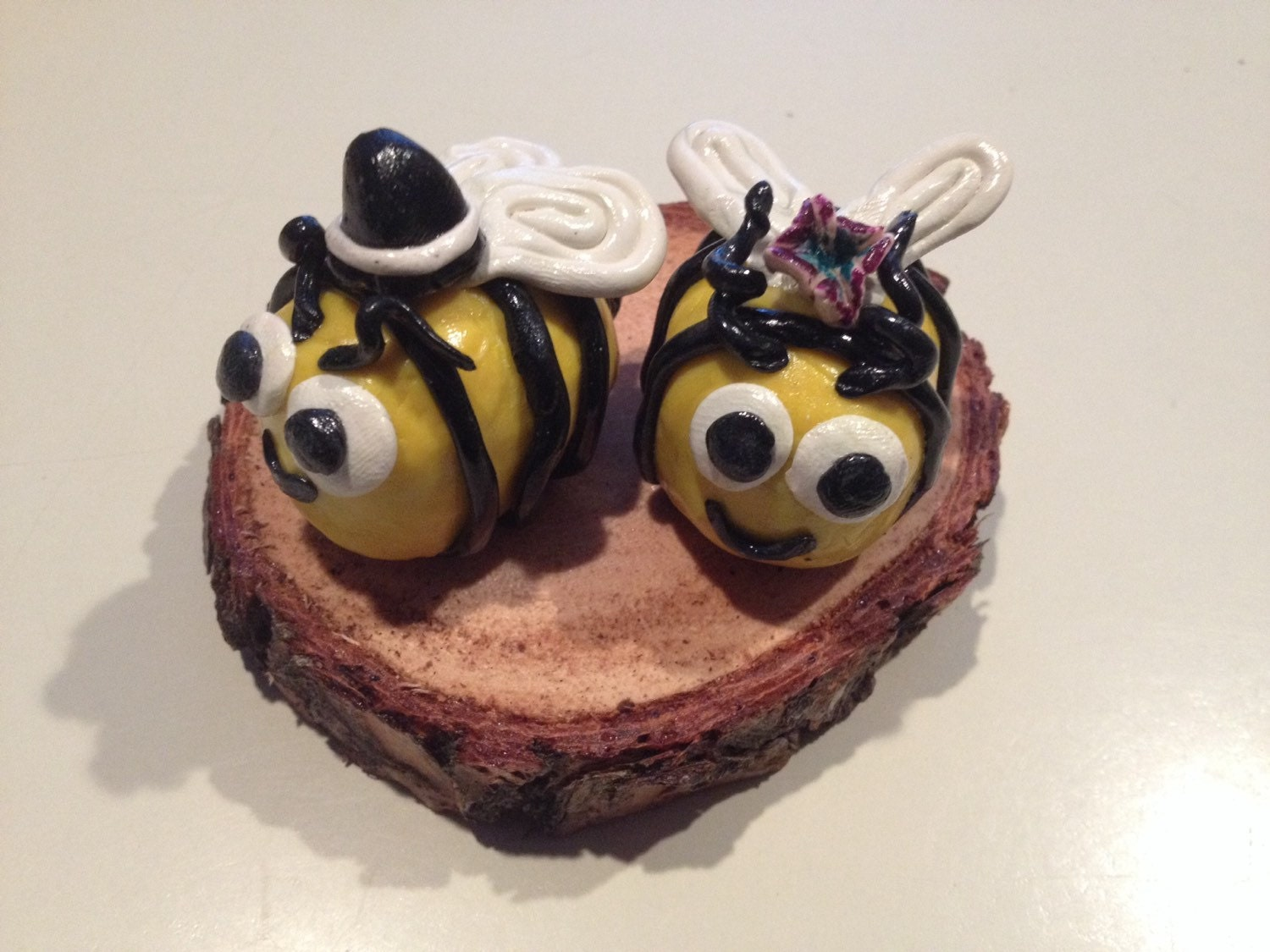 Honey Bees Wedding cake toppers figurines