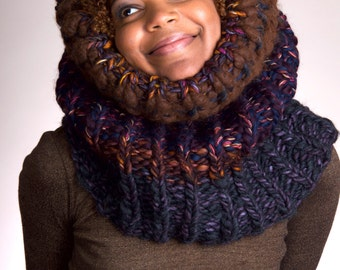 Bulky Scarf, Chunky Knit Scarf, Knit Infinity Scarf, Knit Chunky Scarf, Knit Cowl Chunky, Knit Cowl, Knit Chunky Cowl - Winter Nights #3