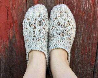 Owl Slippers Crochet Pattern, Slipper Pattern - Womens Slippers Crochet Pattern, Owl Crochet Pattern, Slippers Crochet Pattern for Women