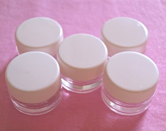 Small Glass Storage Jars .25 oz Quantity of 5