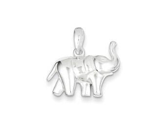 Elephant Pendant Sterling Silver charm .925