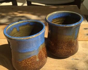 Faded blue Handless Mug