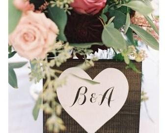 Wedding Table Numbers, Table Number Wedding - Single Sweetheart Wedding Table Number - TB-22