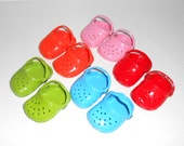 18 inch Doll Shoes 5 pair Destash Doll Clogs Accessories Craft Supplies Doll Clothes Makers American Doll Clothes