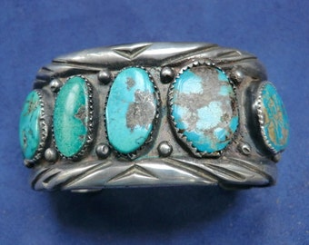 Genuine Old Pawn Turquoise Cuff