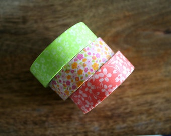 Spring Flower Washi Tape Set of 3