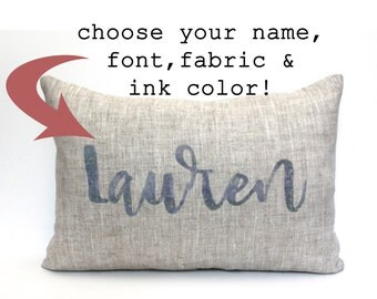 "baby gift, baby pillow, baby shower gift, child's name pillow, personalized pillow, birthday pillow - ""The Lauren"""