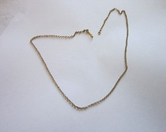 Antique 19 inch 12 K Gold Filled Chain Necklace