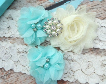 Your Color , Blue  Garter Set , Wedding Garter , Ivory Garter , Garter , Garters for Wedding  , Lace Garter Set , Bridal Garter