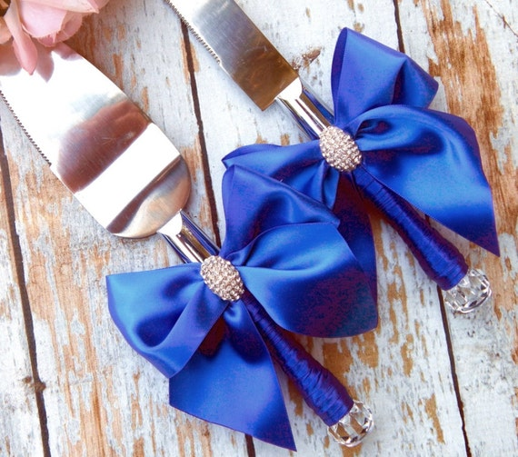Wedding Cake Ideas Royal Blue: Your Color Wedding Cake Serving Set Royal Blue Wedding