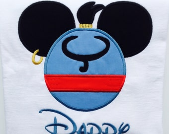 MICKEY GENIE-Personalized Embroidered Bodysuit or T-Shirt-Adults and Kids
