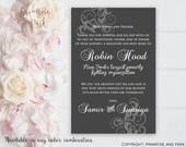 Wedding Donation Favor Card Printable // Donation Favor Sign // In lieu of Card