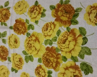 Yellow Rose Floral Bath Towel