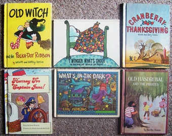 1970s Parents Magazine Press Book Collection - Old Witch, Cranberry Thanksgiving,  I Wonder What's Under, Captain Jane - Childrens Book Lot