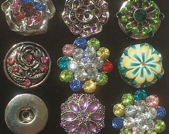 Flower Snap Charms