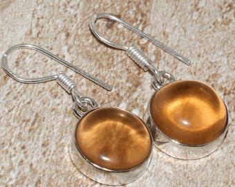 Genuine Citrine Crytal Earrings