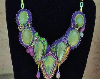 My World in Stones - Jade Collar